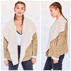 Urban Outfitters Danielle Vegan Sherpa Jacket NWT